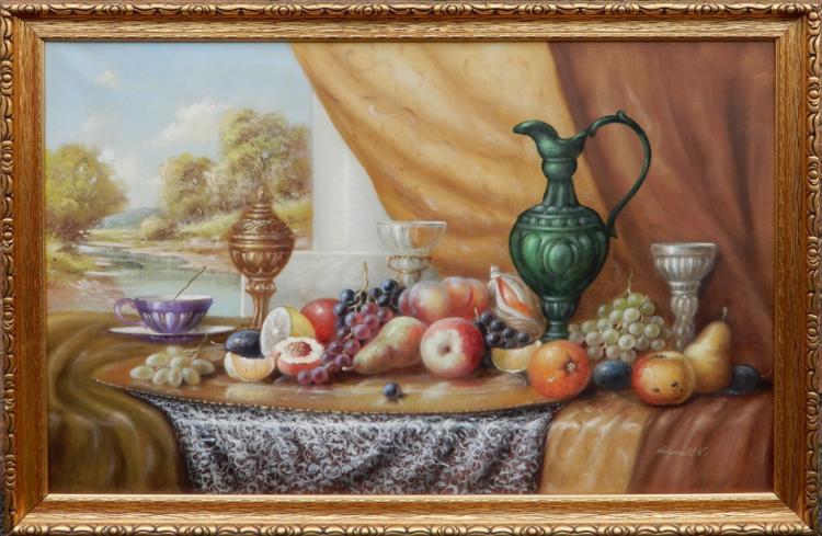 K. Reinprecht oil on canvas