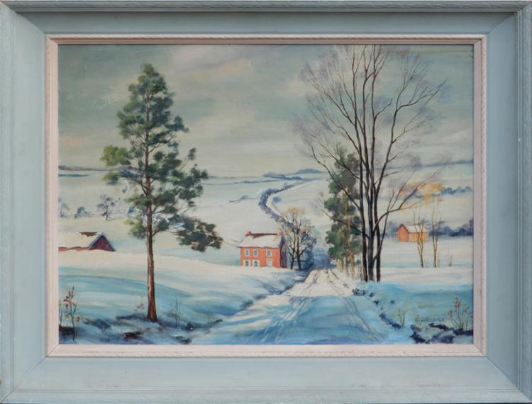 C. (Clarence) I. (Ira) Dreisbach oil on board