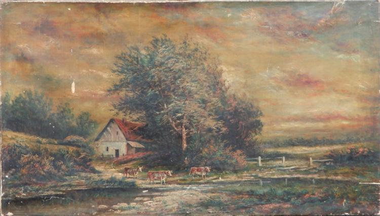 C. (Charles) U. Boizard oil on canvas