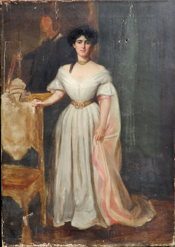 American School oil on canvas
