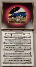 MTH Cal Zephyr 5-car 70' ABS Passenger Set in box