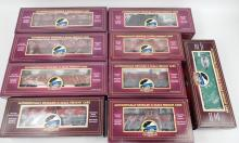 Nine MTH NYC freight cars in original boxes