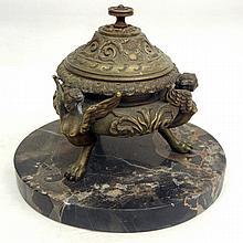 Bronze inkstand encrier