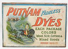 Putnam Fadeless Dyes tin store cabinet