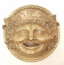 Bronze plaque mask