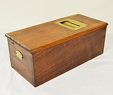 English mahogany cash box