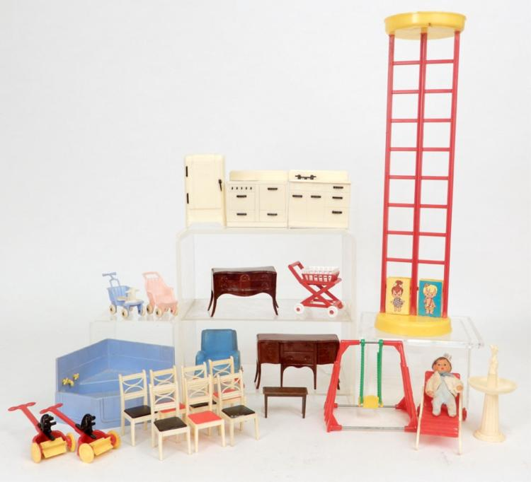 Grouping Of Plastic Doll House Furniture