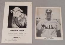 Two autographed pictures of Philadelphia celebrities 1950's