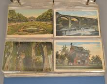Album of late 19th C. and early 20th C. postcards
