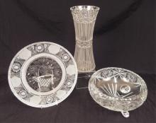 Three Brilliant and cut glass pieces