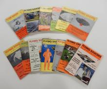 Mid 20th C. Flying Saucers magazines, thirteen volumes