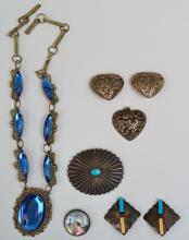 Native American and Mexican silver and costume jewelry