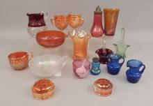 Grouping of Carnival and colored glass