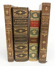 Four gilt leather bound books, 20th C.