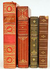 Four gilt leather bound books, 20th C.