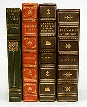 Four 3/4 leather bound books