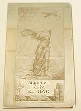 The Ex Libris bookplate of M.C. Gaines