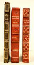 Three gilt leather bound books