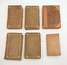 Grouping of 18th & 19th C. half and full leather bound books
