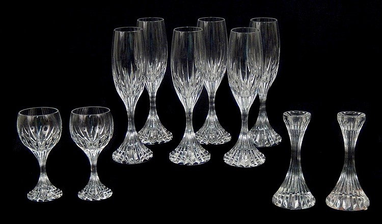 b80fcb4d1ef Sets of Baccarat Massena champagnes, wines, candlesticks