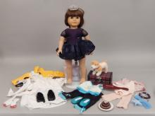 American Girl doll with clothes and accessories