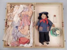 Lenci type doll and vintage and antique doll clothes