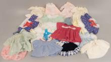 Collection of doll clothes