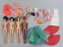 Four Barbie dolls 1960's and early 1970's Mod era