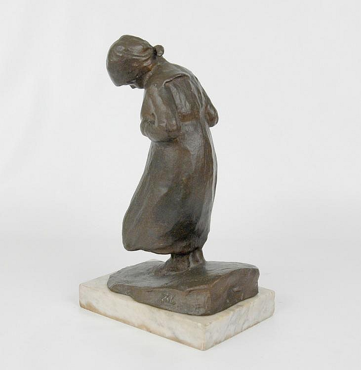 F. (Francesco) Parente bronze sculpture, depicting