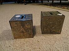 2 Children's ABC Block Coin Banks
