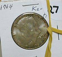 5 1964 Kennedy Half Dollars
