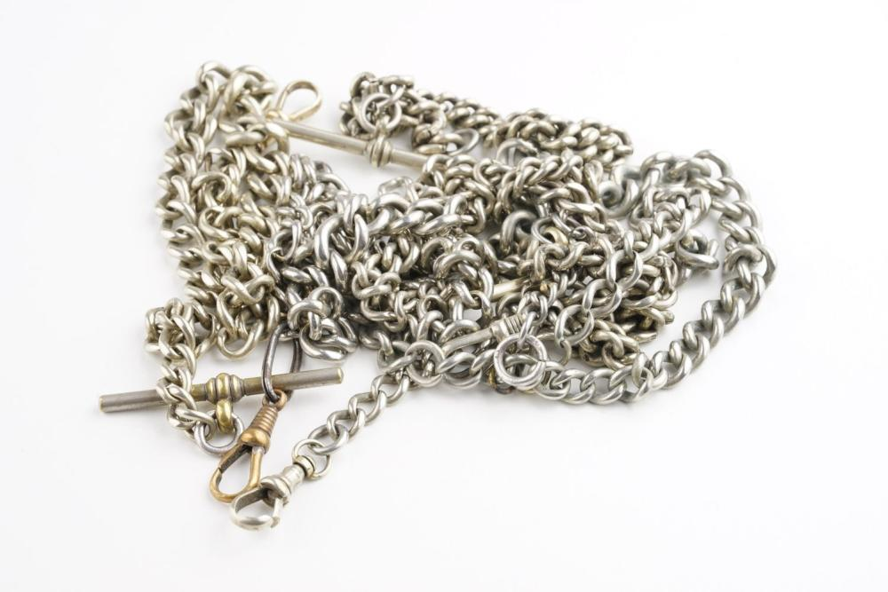 GROUP OF 5 ALBERT CHAINS