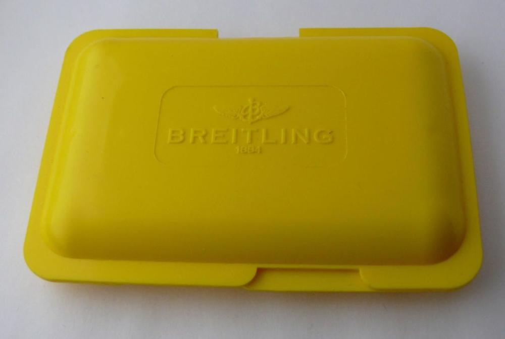 Vintage Breitling Parts Box. Box is clean with some marks that commensurate general wear.