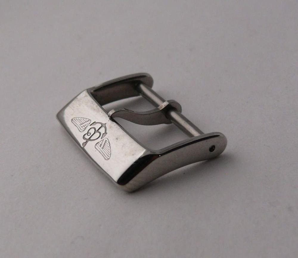 Genuine Breitling Stainless Steel Pin Buckle that measures approx. 20.71 mm in width