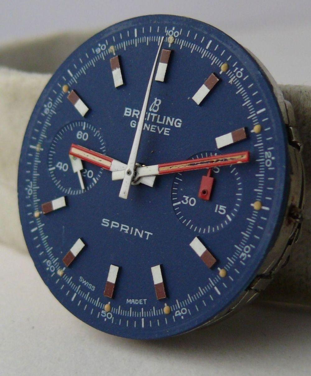 Vintage Breitling Sprint Chronograph Movement & Dial Valjoux 7733 unit.