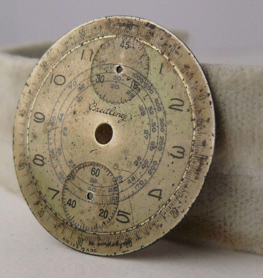 EARLY Vintage Breitling Up & Down Chronograph Dial. Suitable for parts projects or being restored.