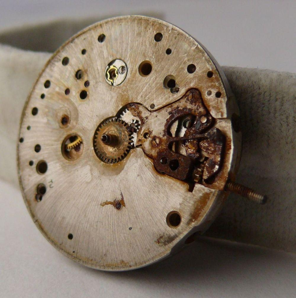 Vintage Breitling Chronograph Venus 175 Movement. Please note this movement has had severe water damage