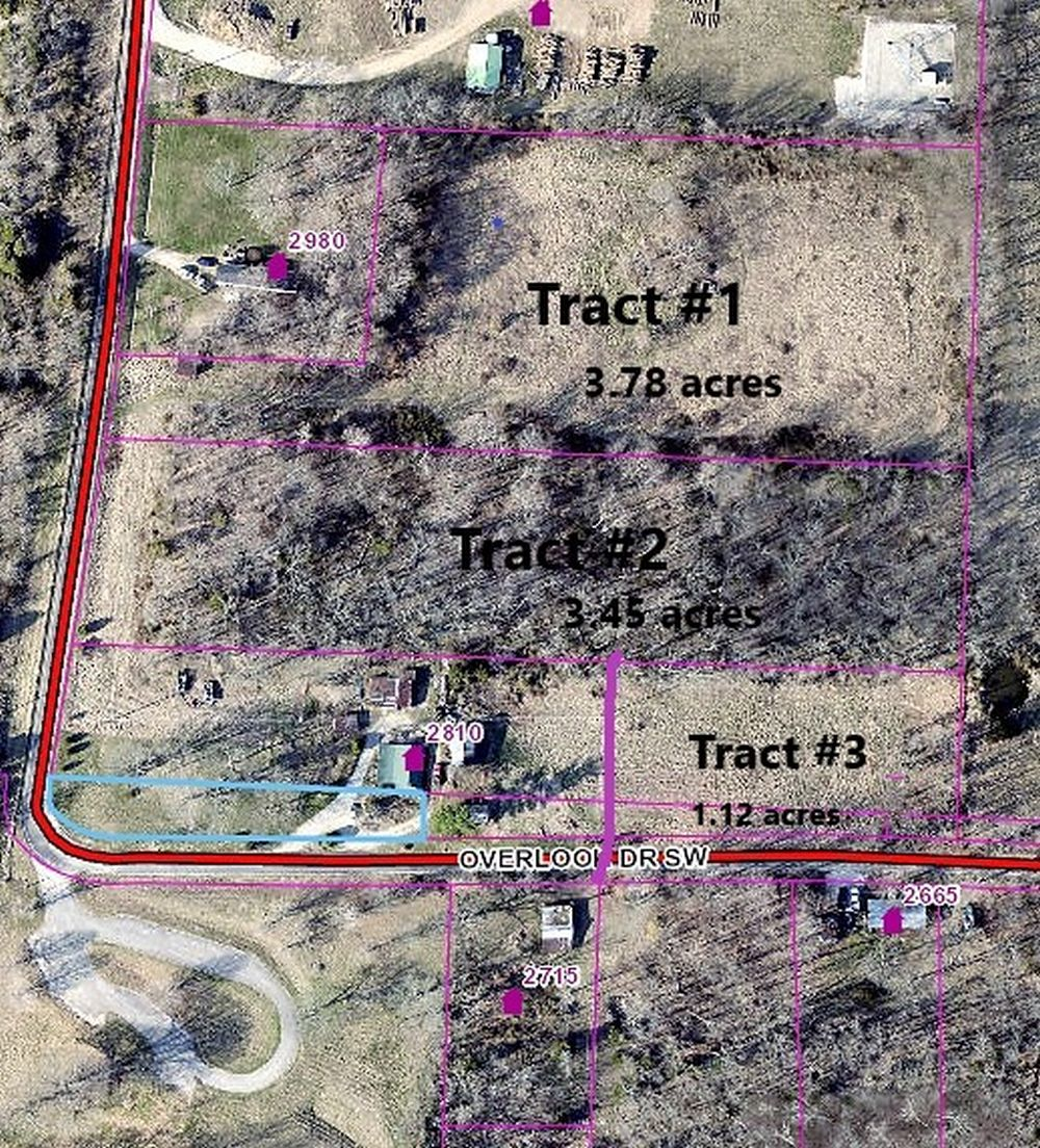 3.45 acres wooded property Tract 2
