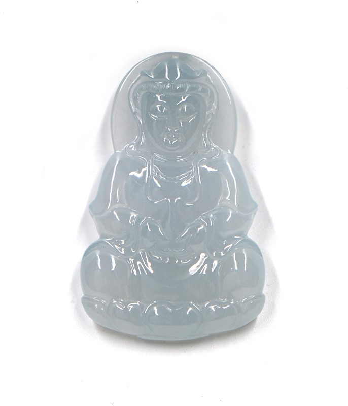 ICY JADEITE GUANYIN PENDANT
