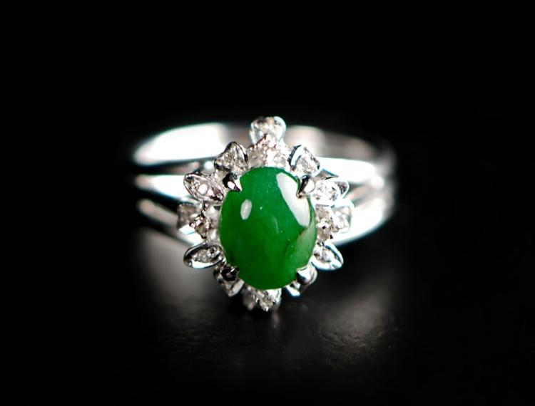 JADE CRYSTAL RING