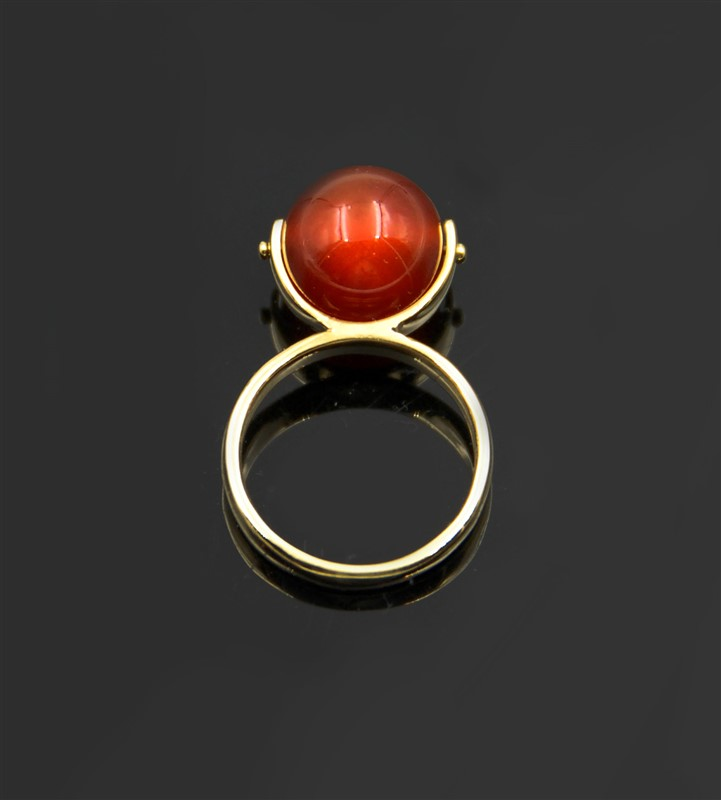 AGATE BEAD RING