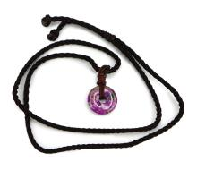 SUGILITE DISK NECKLACE