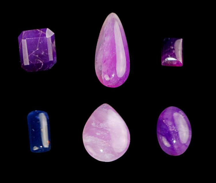 POLISHE SUGILITE CABOCHON OF SIX