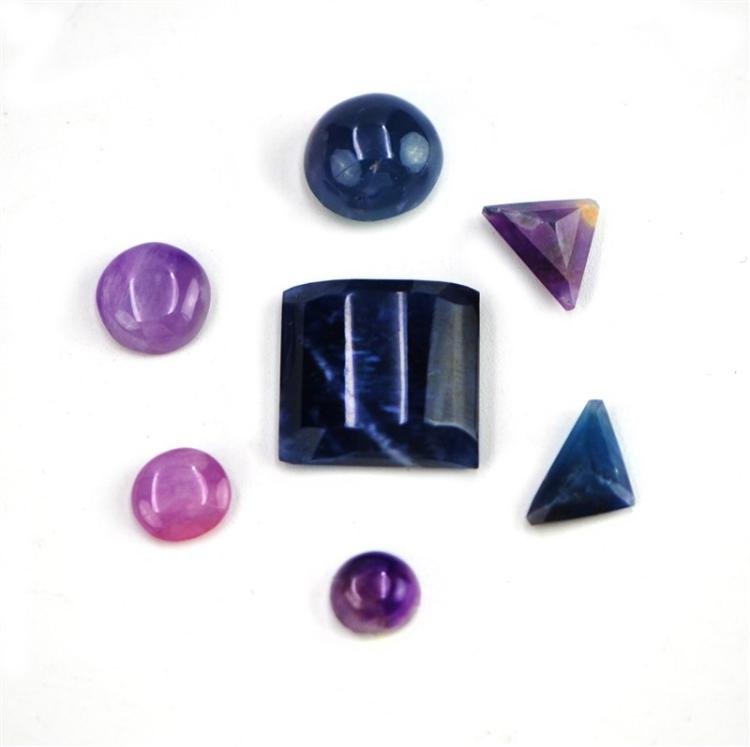 POLISHED SUGILITE CABOCHON SET OF SEVEN