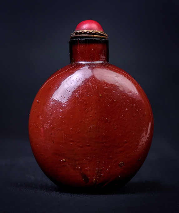 ANTIQUE GLASS SNUFF BOTTLE