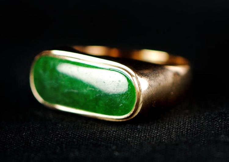 JADE GOLD RING