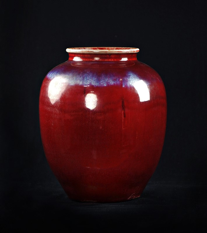 FLAMBE GLAZED JAR