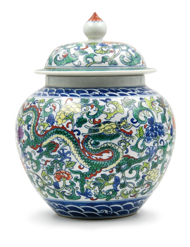 WUCAI DRAGON AND FLOWER GENERAL JAR