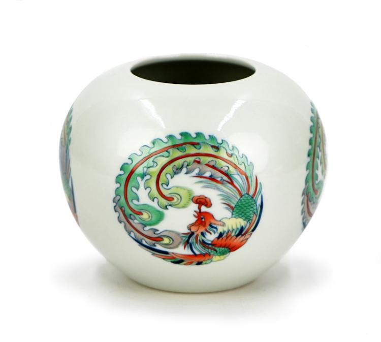 DOUCAI PHOENIX WATER JAR