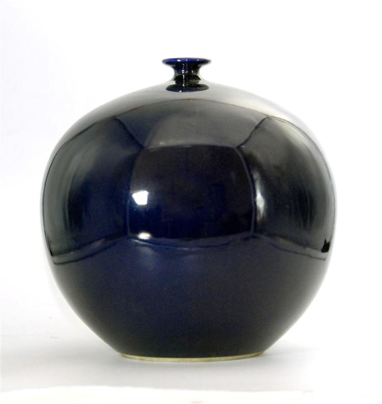 DARK BLUE GLOBULAR JAR